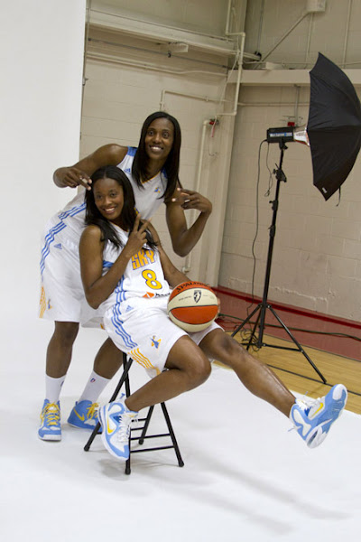 Wearing Brons Swin Cash 8220Chicago Sky8221 LeBron 9 PE