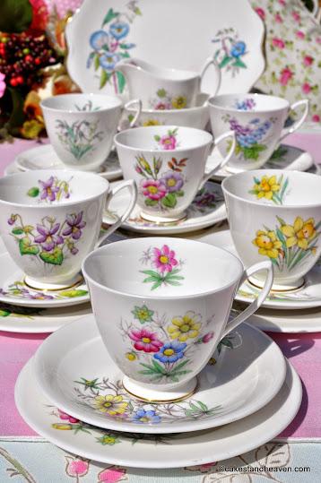 Royal Albert 1950s Flower of the Month Tea Set