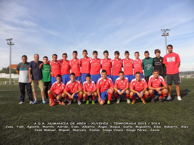 Numancia de Ares. Equipo xuveníl temporada 2013-2014.