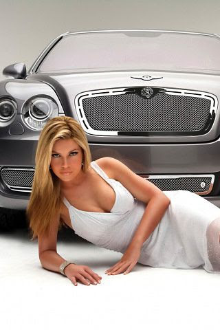 iPhone Wallpaper Luxury Car and Sexy Girl Photo