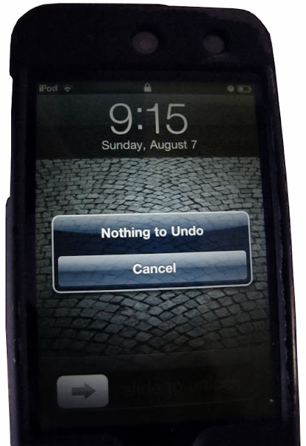 "Computer message; ""Nothing to Undo"""