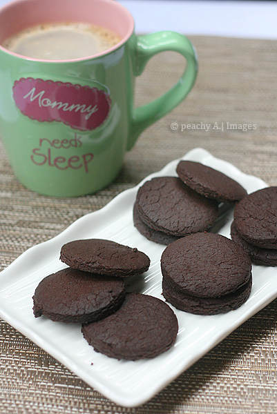 like these homemade oreos much better without the filling….