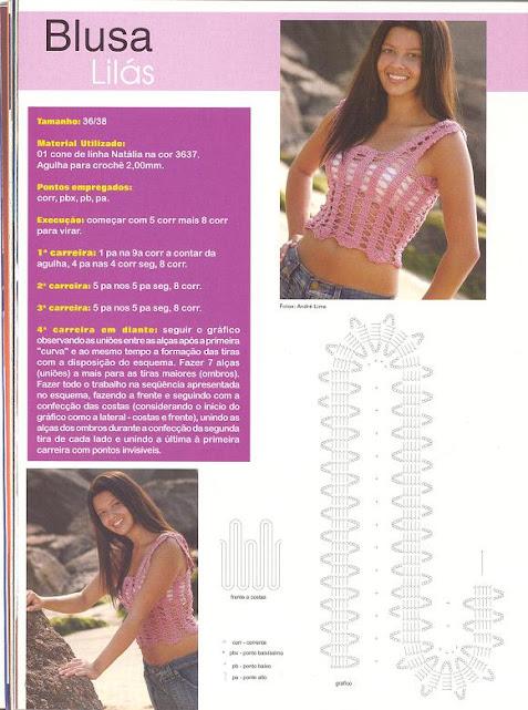 top pink crochet