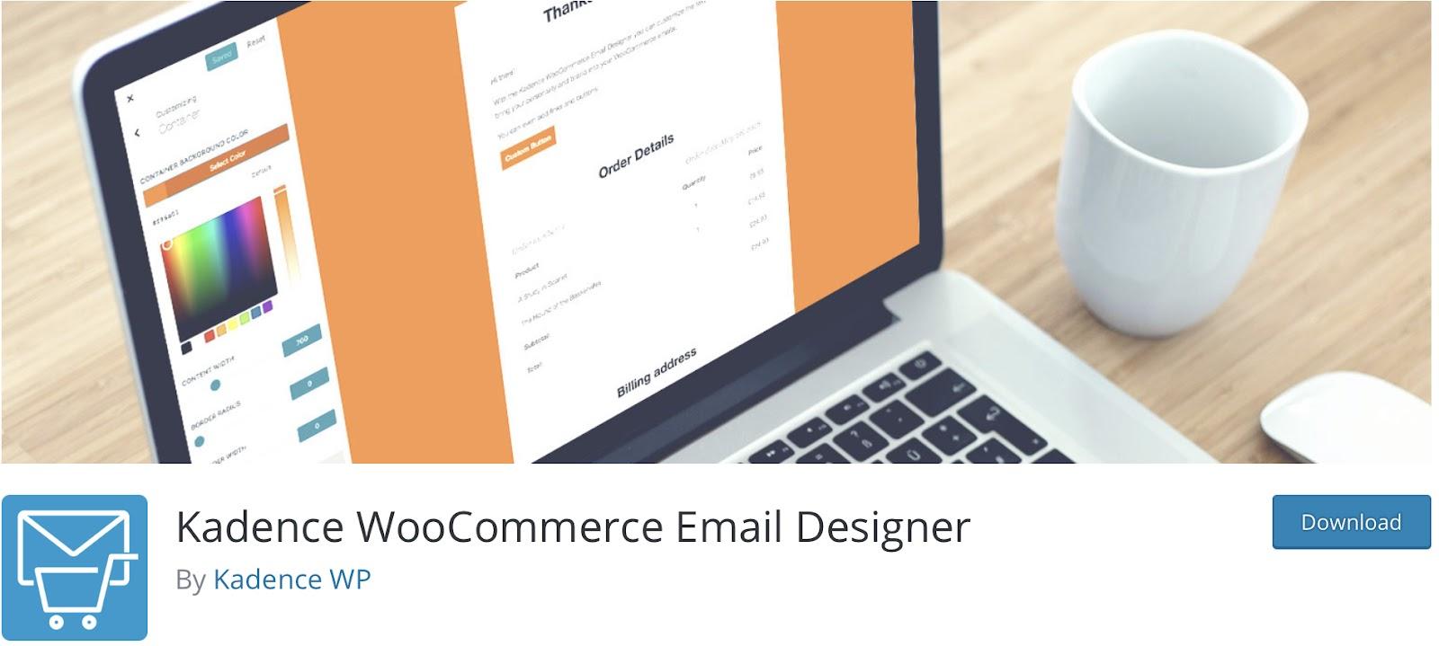 Kadence Woocommerce Email Customizer