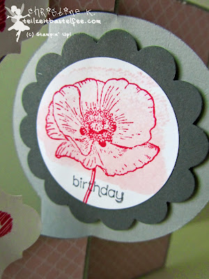 stampin up, happy watercolor, wishes your way, birthday girl, geburtstag mädchen, mosaic, flip card