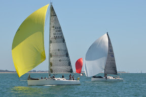 J/133 and J/111 sailing on Solent, England