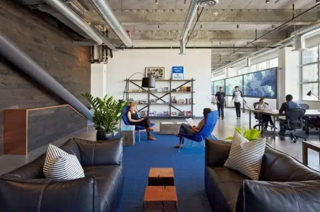 comfortable lounge break area in an SF Bay Area office