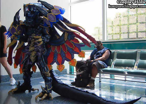 final fantasy x cosplay - bahamut