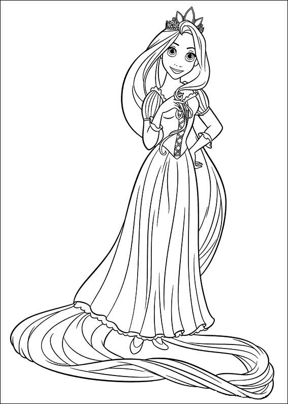 DISNEY COLORING PAGES: TANGLED RAPUNZEL COLORING PAGE