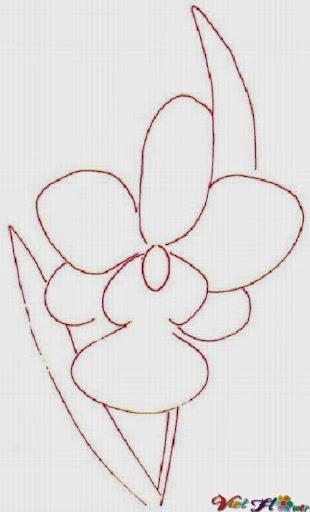 vẽ hoa lan bằng bút chì (bước 1)