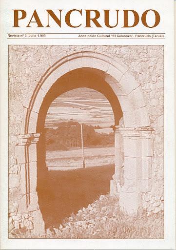 Portada Revista Pancrudo nº3 (1999). Arco de la Ermita de la Señora de la Palma, de Miguel Tolosa Sancho