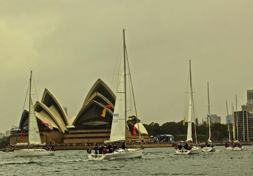 The synchronised yachting event done to Ravel's Bolero. Celebrating Australia Day in Sydney Harbour