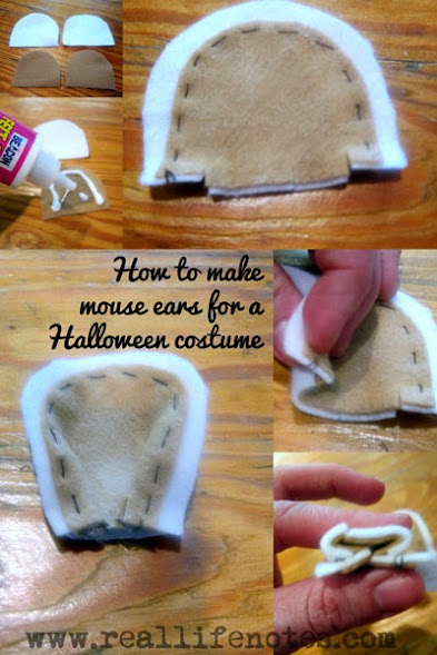 Maisy Mouse Costume, how to make mouse ears