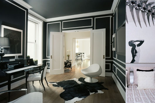 Love design company the power of black white for Carrelage versace