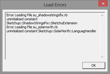 การติดตั้ง Extensions ให้กับ SketchUp 2013 และวิธีการแก้ปัญหาสำหรับ Extensions ที่ไม่ยอมทำงาน Su2013re33
