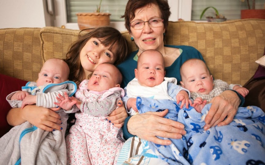 65 Year Old German Woman Gives Birth to Quadruplets