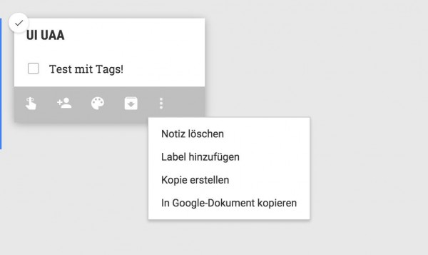 Google Keep Label