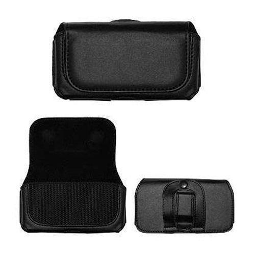 Black Horizontal Leather Pouch For PALMONE TREO 800w Phone Case Cover with Belt Clip Magnetic Closing