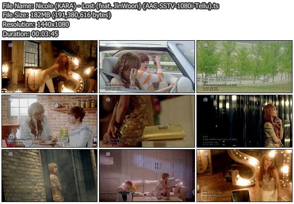 [PV] Nicole (KARA)   Lost (feat. JinWoon of 2AM) (SSTV HD 1080i)