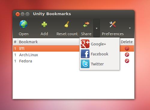 Unity Bookmarks - condivisione siti preferiti