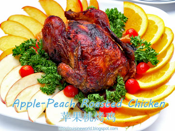 Apple-Peach Roasted Chicken