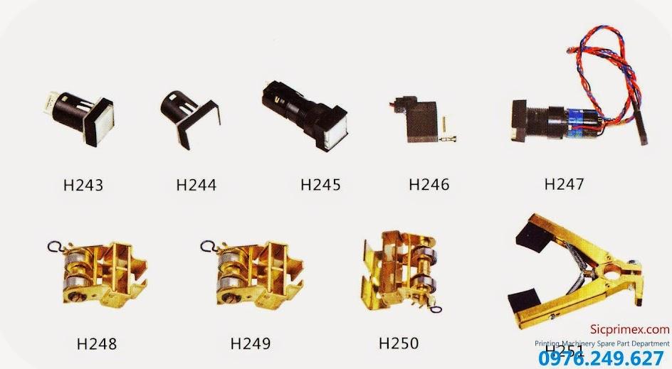 Chuyên cung cấp linh kiện ngành in chính hãng giá rẻ H243-251