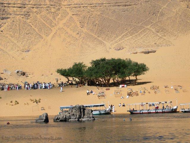 Navegando hacia el Pueblo Nubio