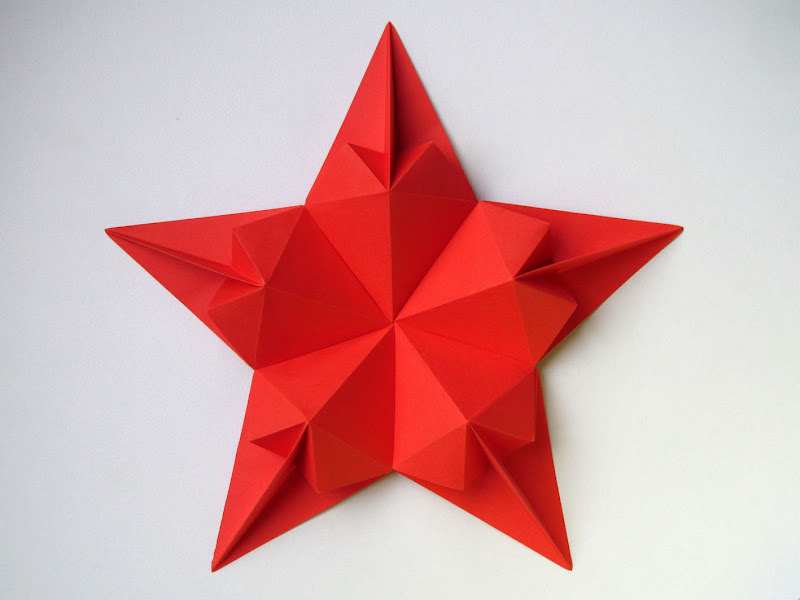 Origami foto Stella di cuori - Star of hearts by Francesco Guarnieri