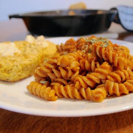 Pumpkin Sage Pasta & Biscuits