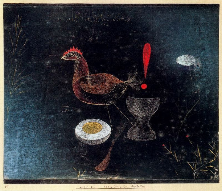 Paul Klee - Contemplation at Breakfast