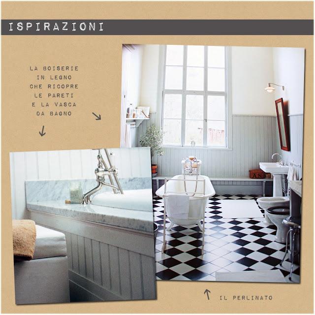 Progettare due bagni shabby chic interiors - Piastrelle diamantate 10x20 ...