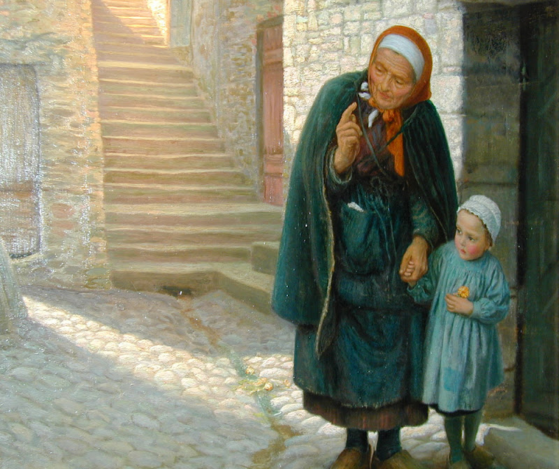 Arthur Hughes - Old Neighbour Gone Bye