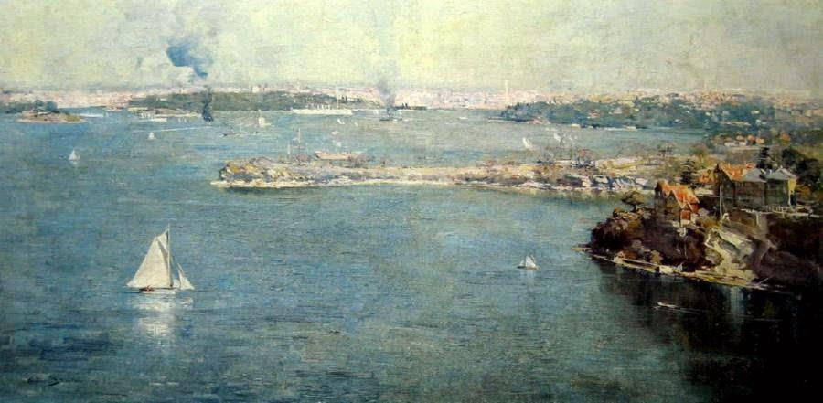 Arthur Streeton - Sydney Harbour, Across Cremorne