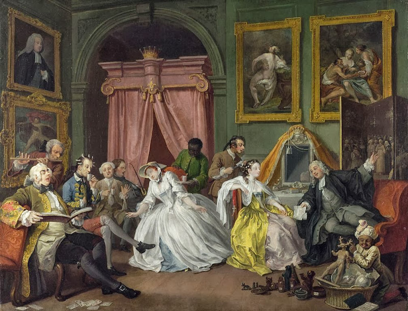 William Hogarth - Marriage A-la-Mode 4 The Toilette