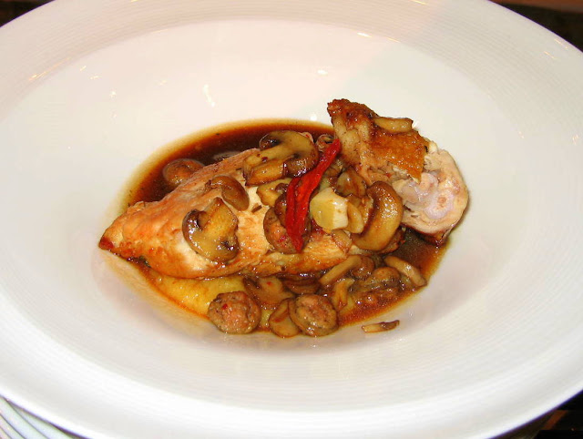 Chicken with Wild Mushroom & Apple Stuffing Iron Chef Susan Maria Leach Ritz Carlton