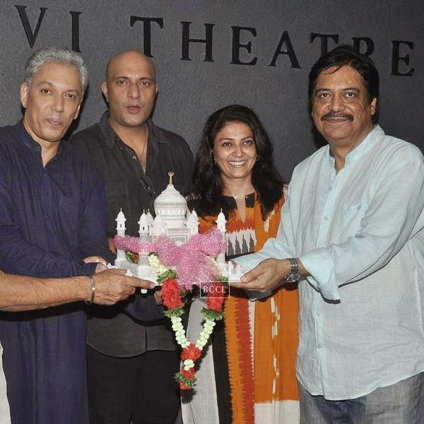 Rahul Vora, Amit Bahl, Lubna Salim and Salim Arif during the play Tajmahal Ka Udghatan, in Mumbai, on July 24, 2014. (Pic: Viral Bhayani)