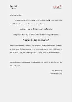 Premio Fortea de las Artes