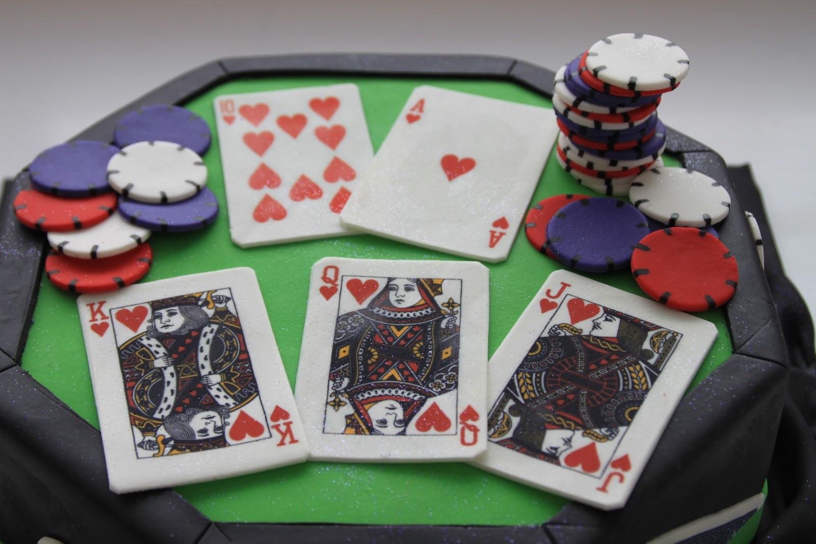 Celebrate With Cake Texas Hold Em Poker Cake