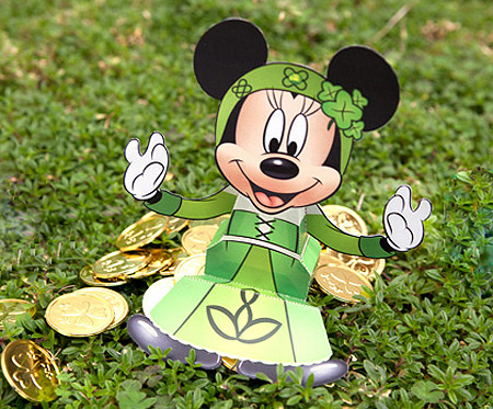 Disney 2012 St. Patrick's Day Papercraft Minnie Mouse Candy Box