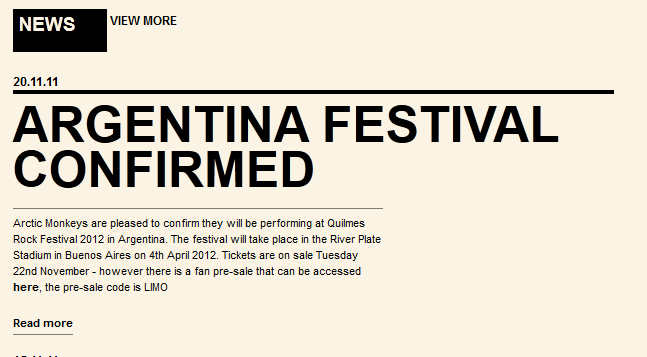 Arctic Monkeys en Argentina 2012 Kkdkfsdkf