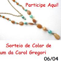 Sorteio com Carol Gregori