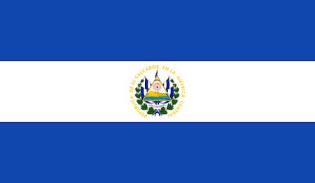 Bandera actual de El Salvador