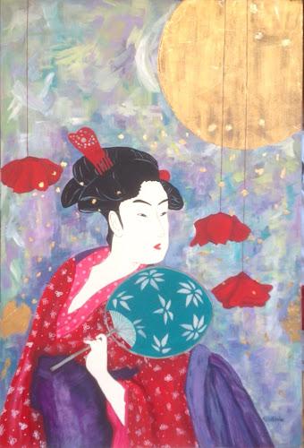 Pintura japonesa Geisha Ukiyo-e