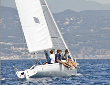 J/80 one-design sailboat- off Tigullio, Italy