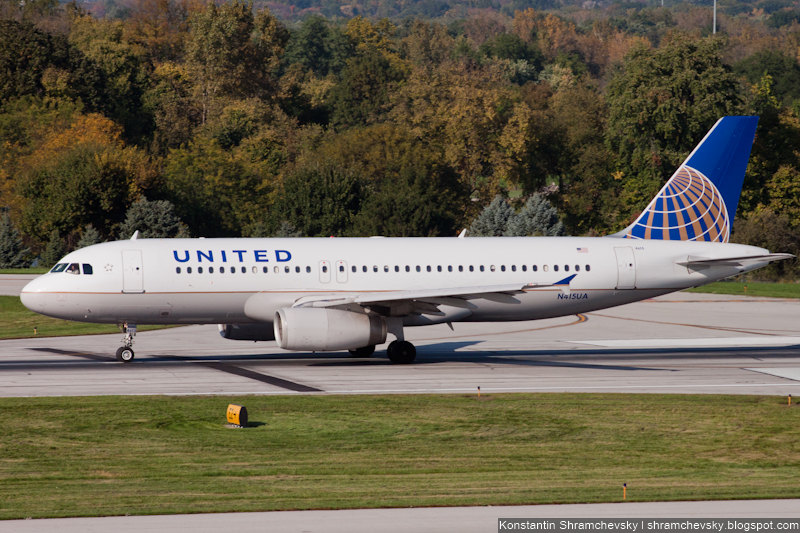 USA Ohio Columbus United Airlines Airbus A320-232 N415UA США Огайо Коламбус Юнайтед Эйрланз Эйрбас Аэробус А320-232