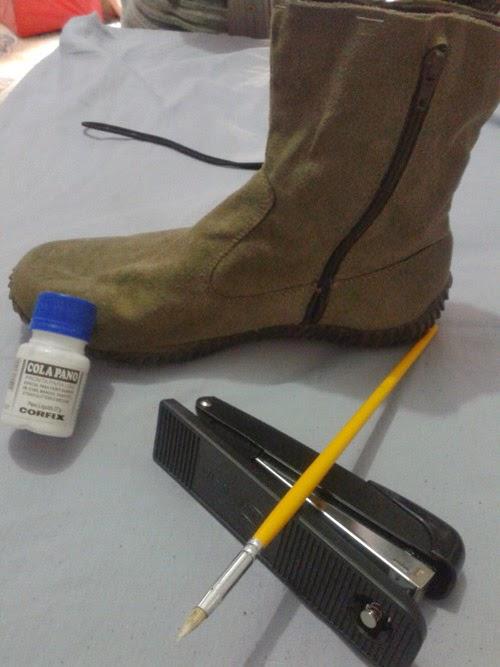 como cortar bota de cano alto e deixar cano curto