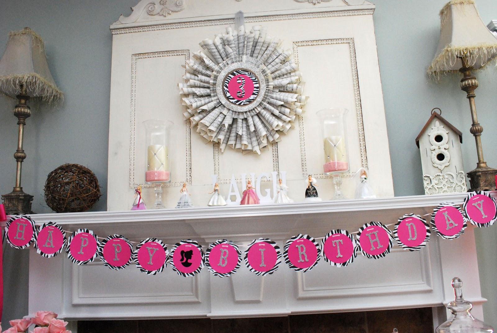 Fussy Monkey Business: Barbie Birthday Party Decorations ...
