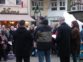 Remagen. Tag der Demokratie, Abschlusskundgebung vor dem Rathaus.