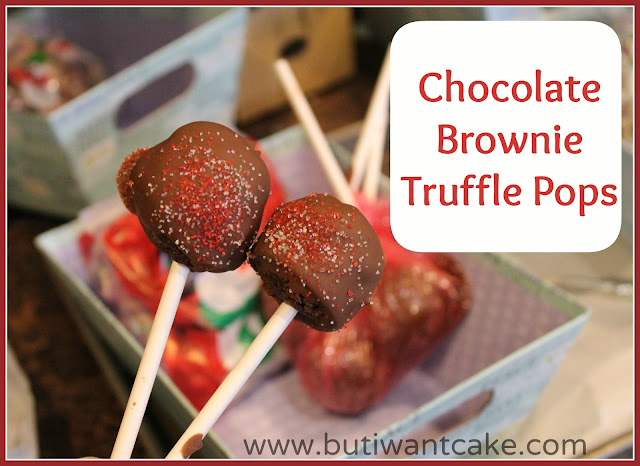 chocolate brownie truffle pops