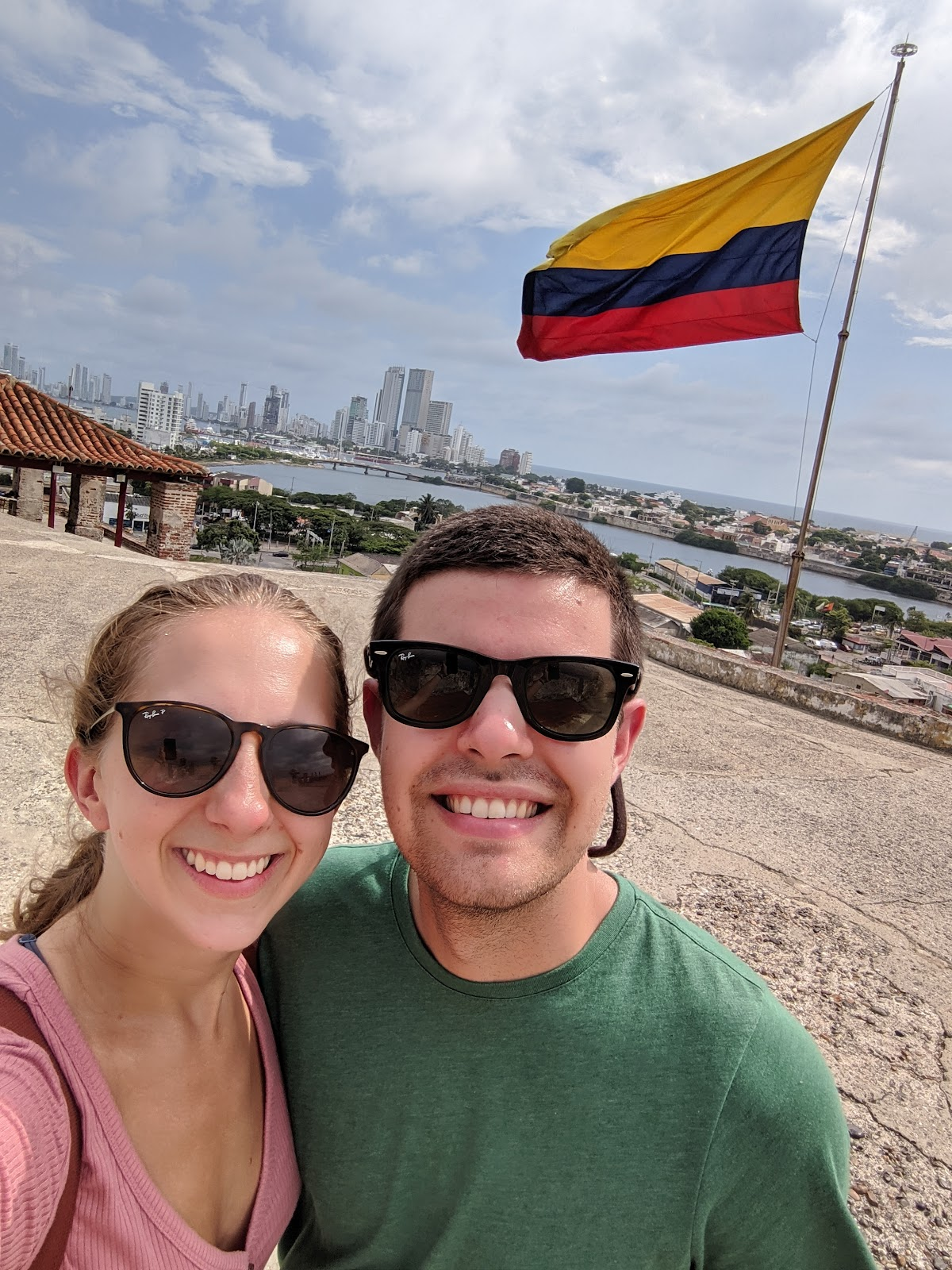 Brandon and Erin at Castillo de San Felipe in Cartagena, Colombia.